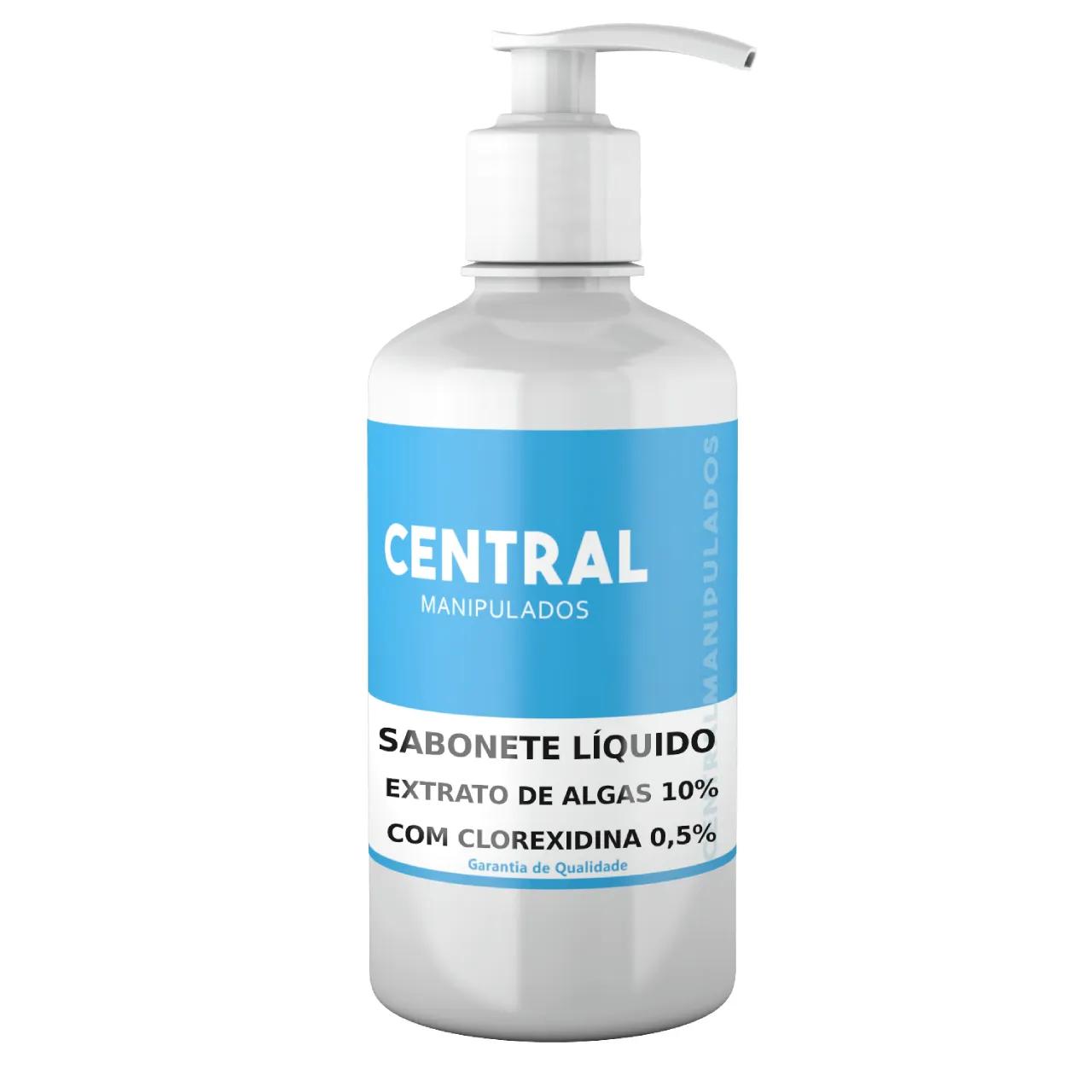 Clorexidina 0,5% + Extrato de Algas 10% - 200ML Sabonete Líquido - Uso externo para Celulite, Cicatrizante, Antisséptico , Antifúngico, Bactericida