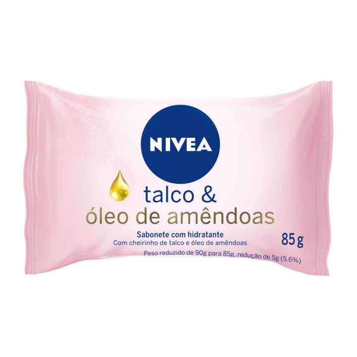SABONETE  NIVEA HIDR TALCO AMEND 85G