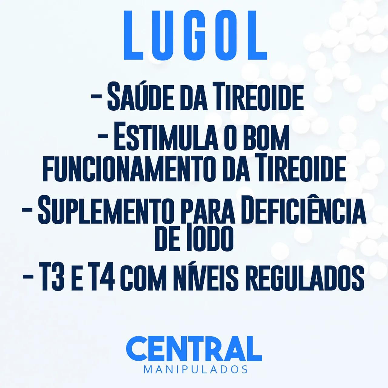 Selênio 200mcg 60 cápsulas + Solução de Lugol Forte 30ml (frasco âmbar de vidro)