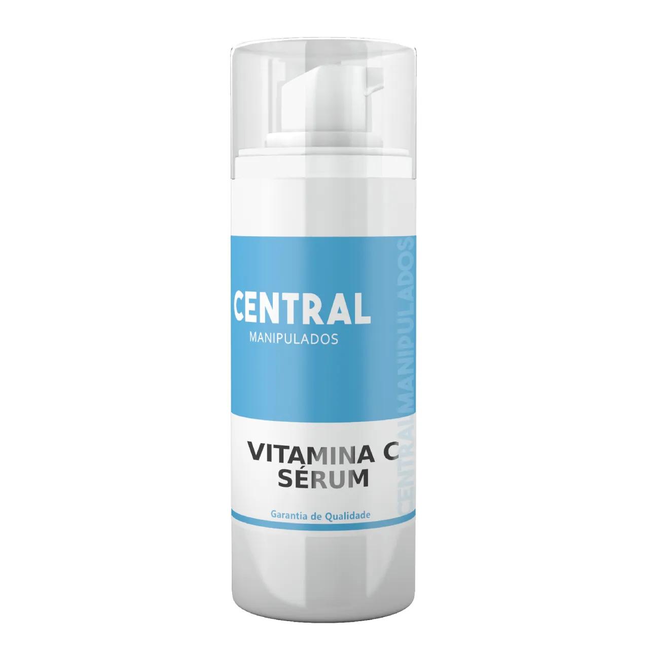 Sérum De Vitamina C Pura - 30ml - Uniformização do tom da pele e Luminosidade, Diminuição dos sinais do envelhecimento, Redução da acne e olheiras