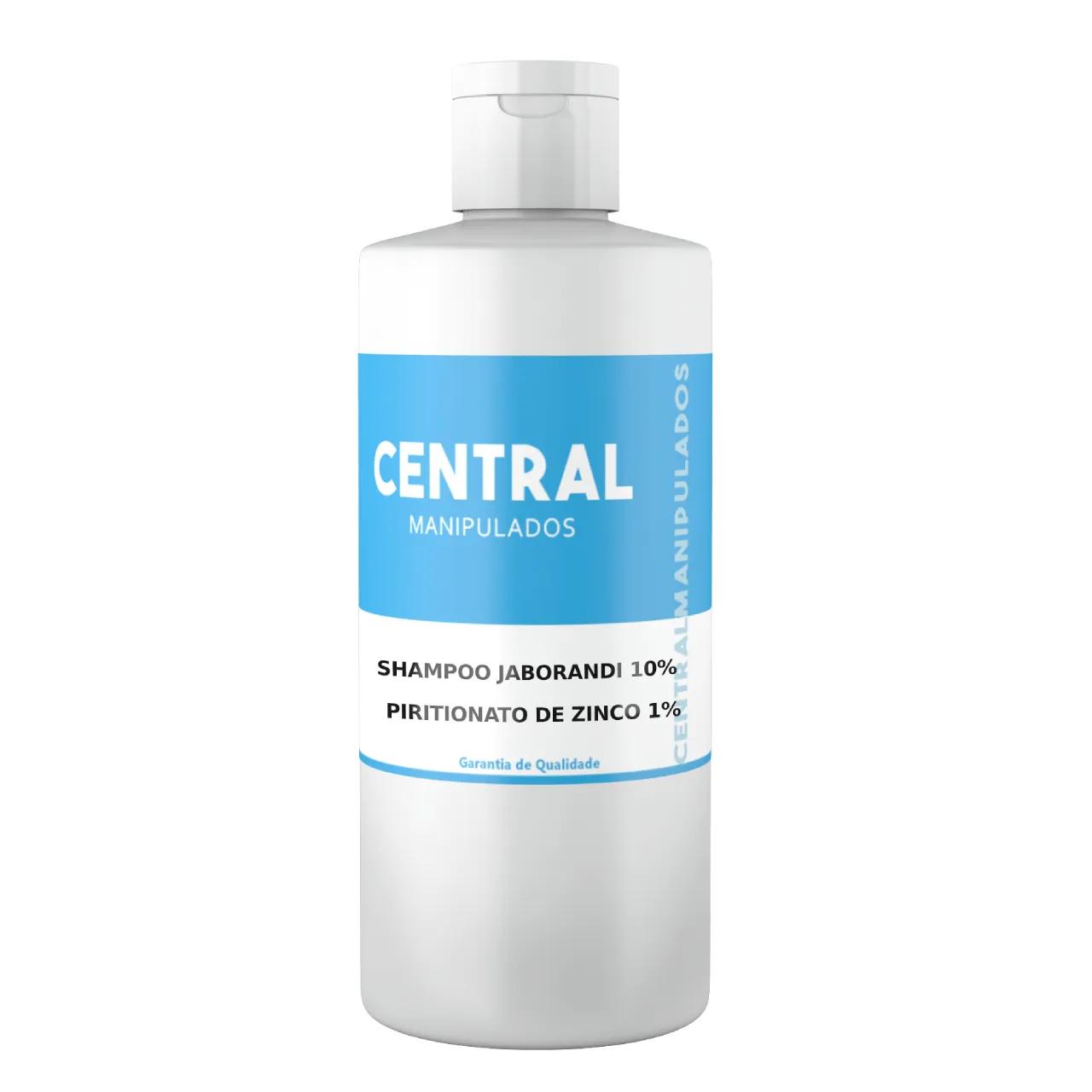 Shampoo 200ml  - Jaborandi 10% + Piritionato de Zinco 1% -  Shampoo anti queda para cabelo frágil e quebradiço, combate oleosidade e caspa