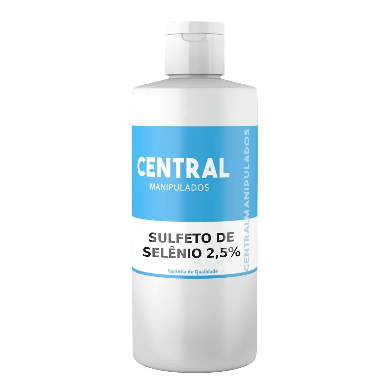 Shampoo Sulfeto de Selênio 2,5% - 100ml - Anticaspa, Anti-séptica, Antifúngica, Anti-Seborréica