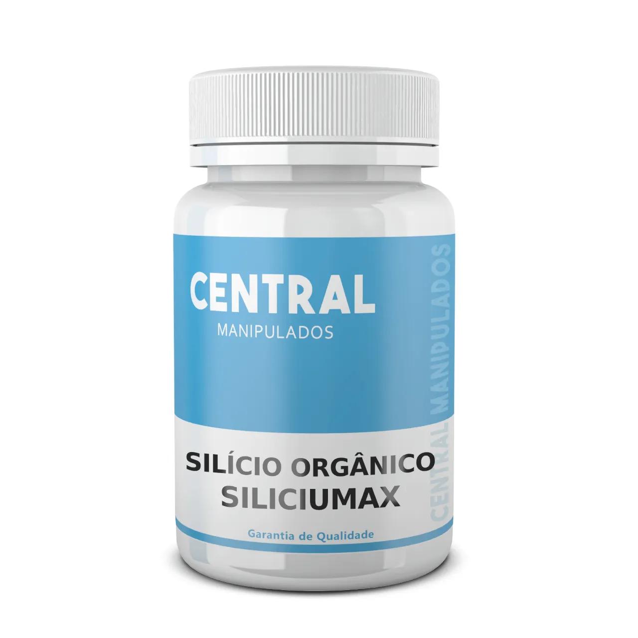 Silício Orgânico SiliciuMax 150mg - 60 CÁPSULAS - Revitalização de Cabelos e Unhas, Pele mais Jovem, Ossos mais Fortes.