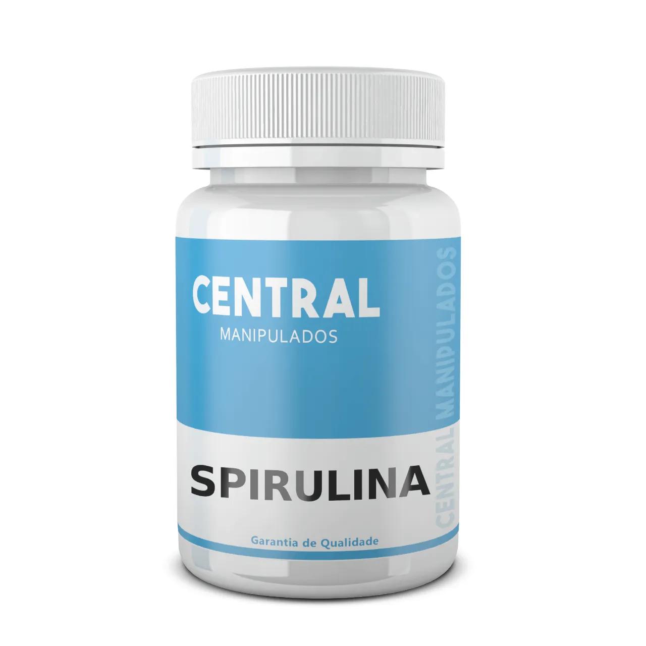 Spirulina 500mg - 120 cápsulas - Inibidor de Apetite, Promove saciação, Melhora a saúde digestiva e gastrintestinal, Fortalece imunidade