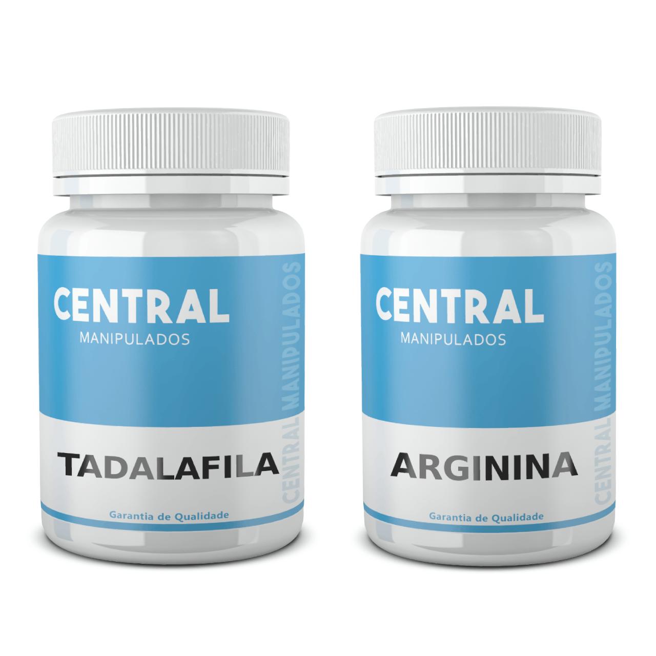 Tadalafila 15mg 60 Cápsulas  + Arginina 500mg 60 Cápsulas - Vasodilatador