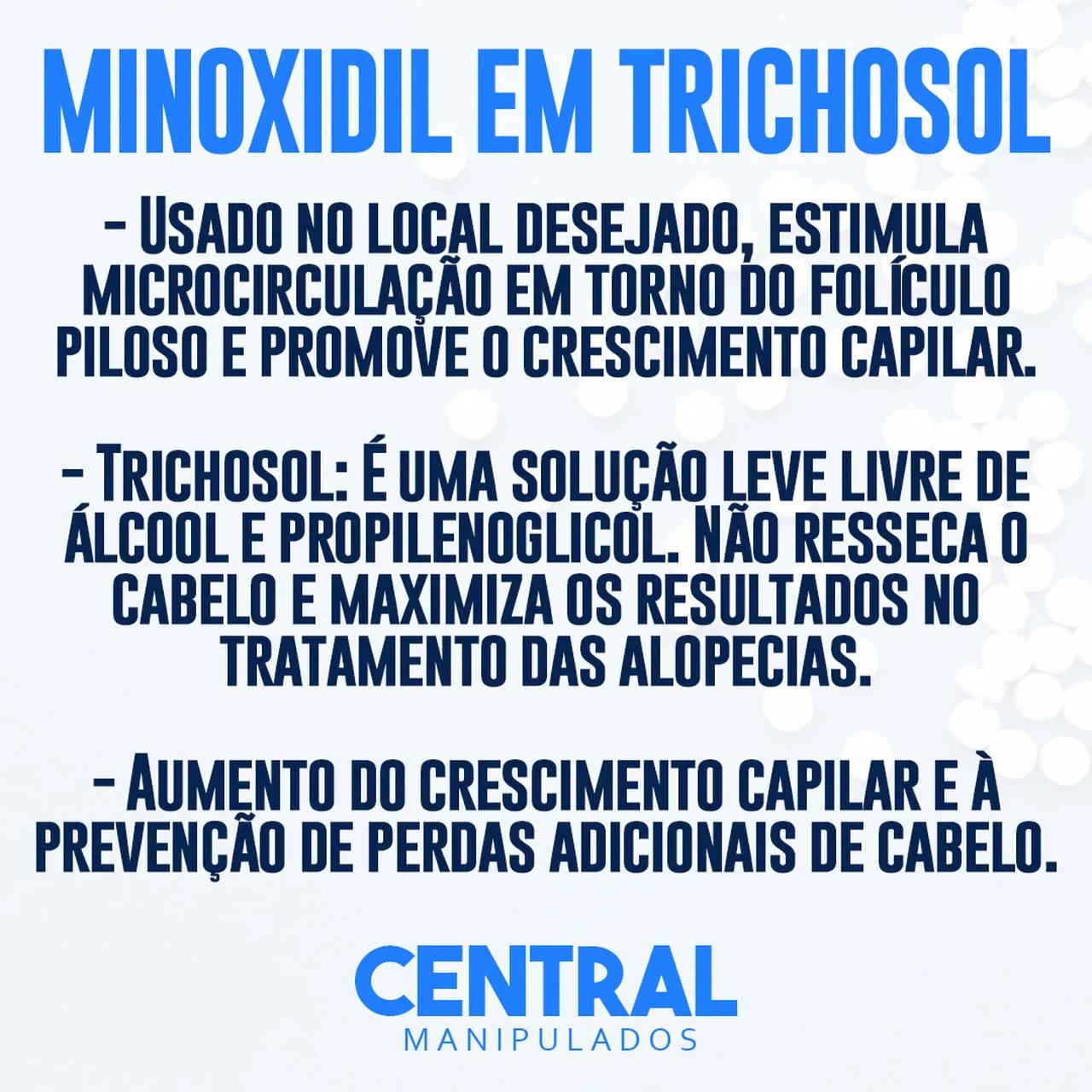 TrichoSol com Finasterida 0,1% e Minoxidil 5% - 200ml - Tecnologia TrichoConcept da Fragon