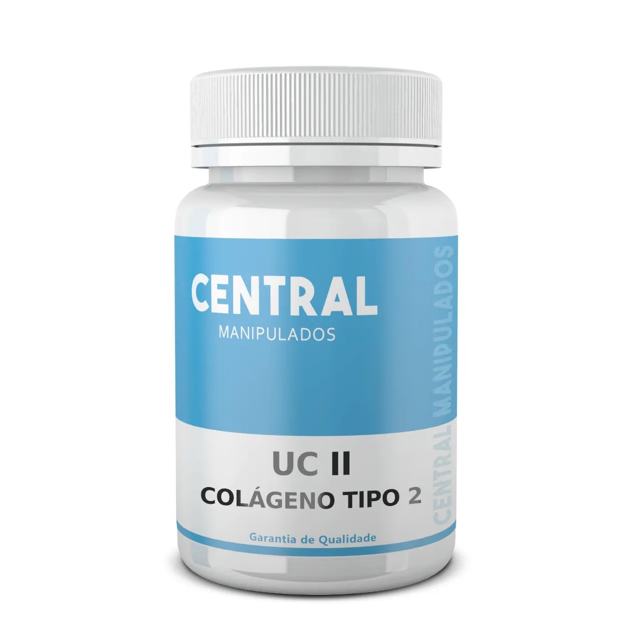 UC-II 40MG Colágeno Tipo II - 120 cápsulas  - Dores Articulares, Ósseas e das Cartilagens