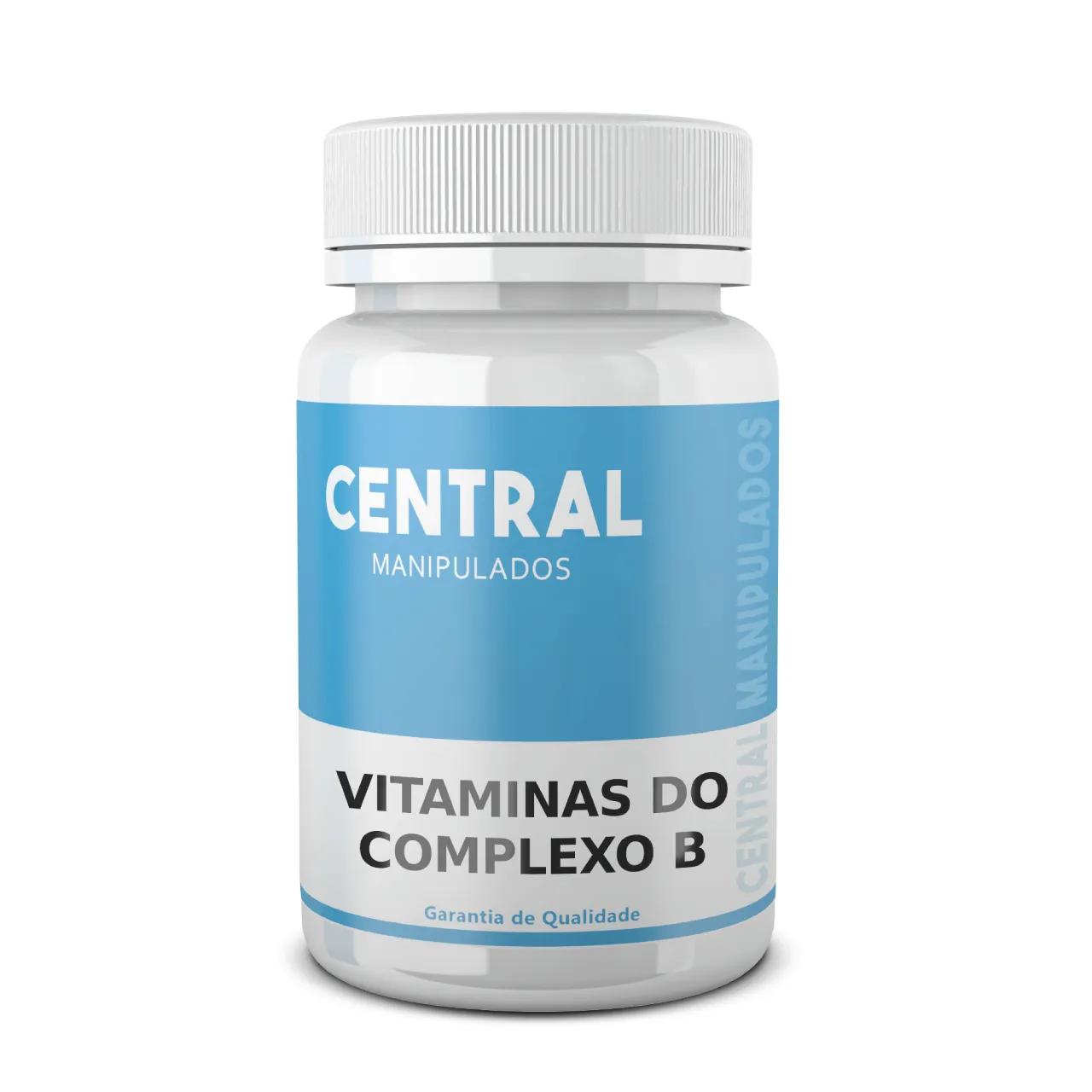 Vitaminas do Complexo B - 60cps - 5 vitaminas ; B1, B2, B3, B5, B6, B12
