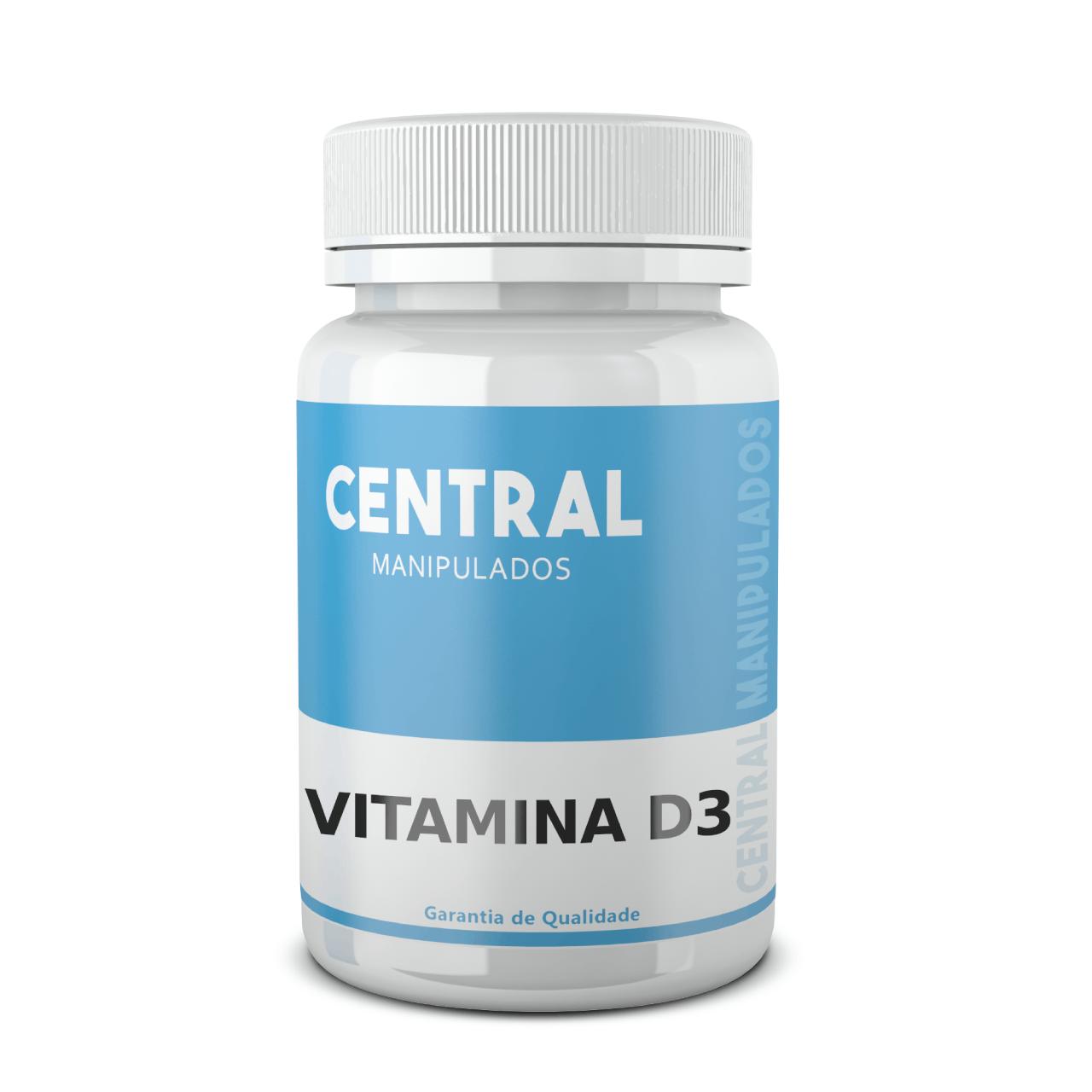 Vitamina D3 10.000 UI - 60 cápsulas - Saúde Óssea e Muscular