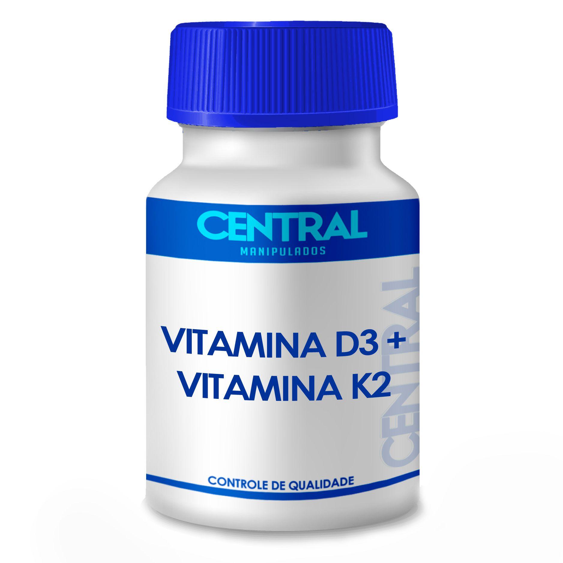 Vitamina K2 MK7 100 mcg + Vitamina D3 10.000 ui 120 cápsulas - Saúde Óssea, Tratamento da Osteoporose,  Benefícios Vasculares, Carência Vit D, Imunidade, Saúde Hormonal