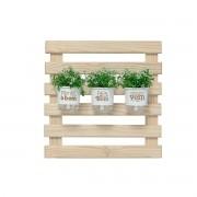 Mini Jardim Vertical 60cm x 60cm Plante o Bem Branco