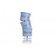 Conjunto 3 Vasos Autoirrigáveis Azul Serenity Pequenos 12cm x 11cm Home Sweet Home