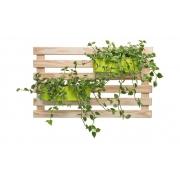 Horta Vertical Creme 100cm x 60cm com 2 Jardineiras