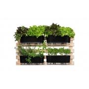 Horta Vertical Creme 100cm x 60cm com 4 Jardineiras