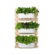 Horta Vertical Creme 60cm x 100cm com 3 Jardineiras