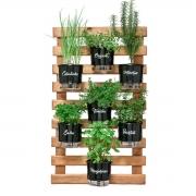 Horta Vertical Caramelo 60cm x 100cm com 7 Vasos Gourmet