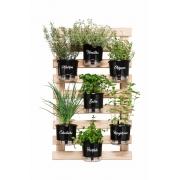Horta Vertical Creme 60cm x 100cm com 7 Vasos Gourmet