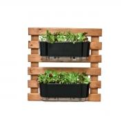 Horta Vertical Caramelo 60cm x 60cm com 2 Jardineiras