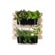 Horta Vertical Creme 60cm x 60cm com 2 Jardineiras