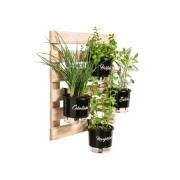 Horta Vertical Creme 60cm x 60cm com 4 Vasos Gourmet