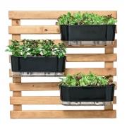 Horta Vertical Caramelo 80cm x 80cm com 3 Jardineiras