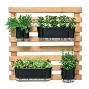 Horta Vertical Caramelo 80cm x 80cm com 2 Vasos e 2 Jardineiras