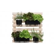 Horta Vertical Creme 80cm x 80cm com 2 Vasos e 2 Jardineiras