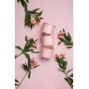 Conjunto 3 Vasos Autoirrigáveis Pequenos 12cm x 11cm Minha Amada Horta Rosa Quartz