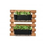 Kit Horta Vertical 60cm x 60cm com 2 Jardineiras