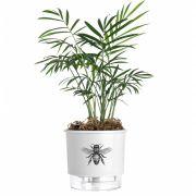 Vaso Autoirrigável Pequeno N02 12cm x 11cm Branco Abelha Coleção Jardim de Insetos