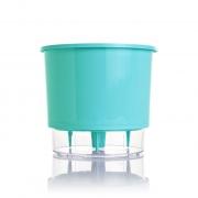 Vaso Autoirrigável Verde Raiz Pequeno 12cm x 11cm N02