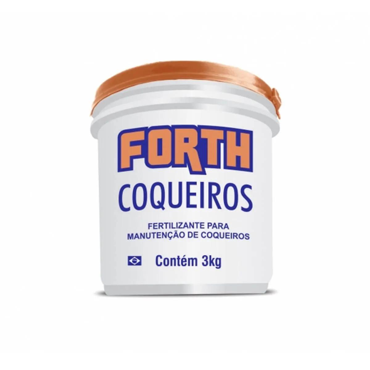 Fertilizante para plantas Forth Coqueiros 3kg  - Vasos Raiz Loja Oficial