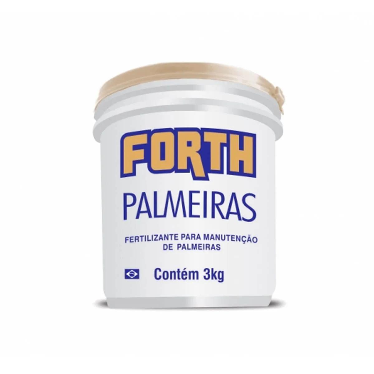 Fertilizante para plantas Forth Palmeiras 3kg  - Vasos Raiz Loja Oficial