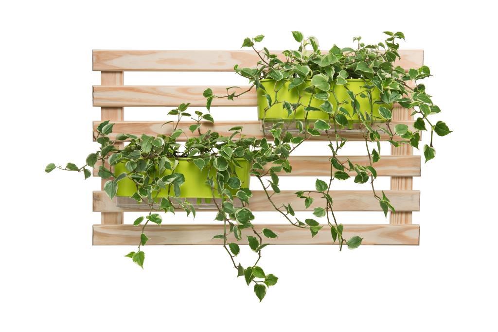 Horta Vertical Creme 100cm x 60cm com 2 Jardineiras  - Loja Raiz