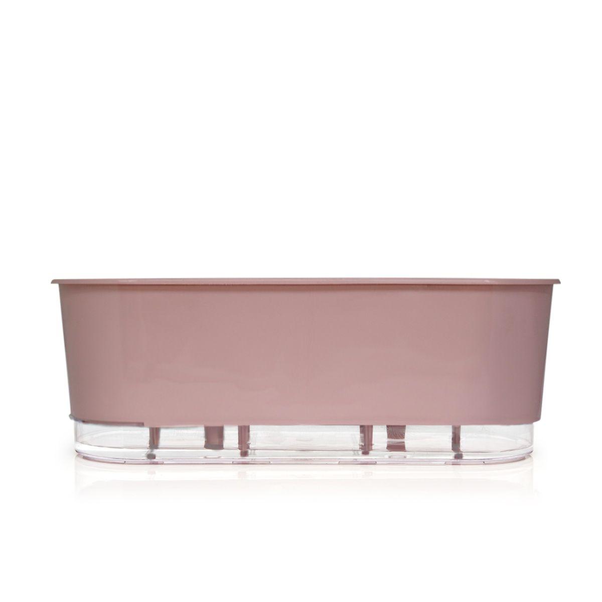 Jardineira Autoirrigável 40 cm Rosa  - Vasos Raiz Loja Oficial