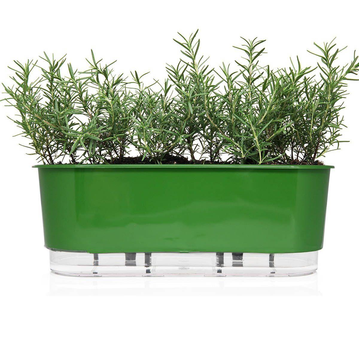 Jardineira Autoirrigável 40cm Verde Escuro