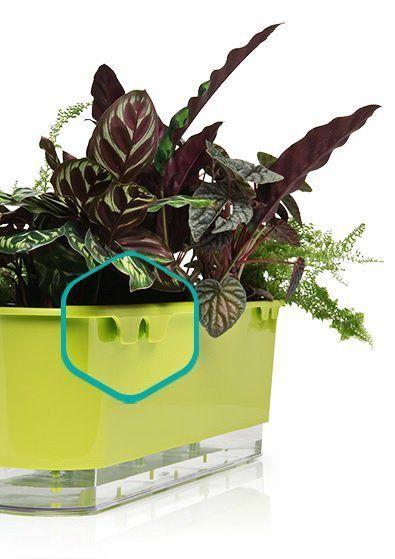 Jardineira Autoirrigável Branco 40 cm  - Vasos Raiz Loja Oficial