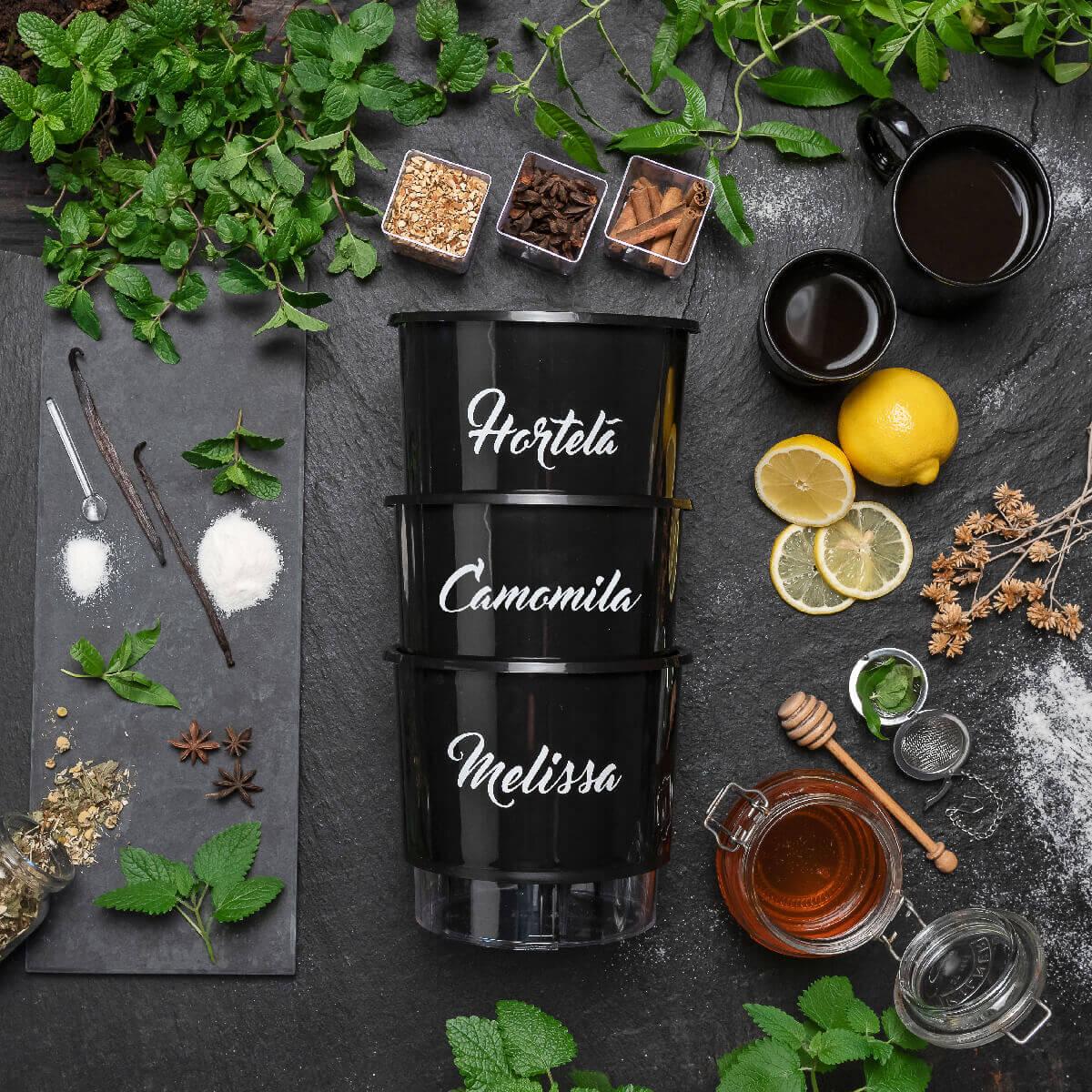 Kit Plantio Completo Gourmet Chás  - Loja Raiz