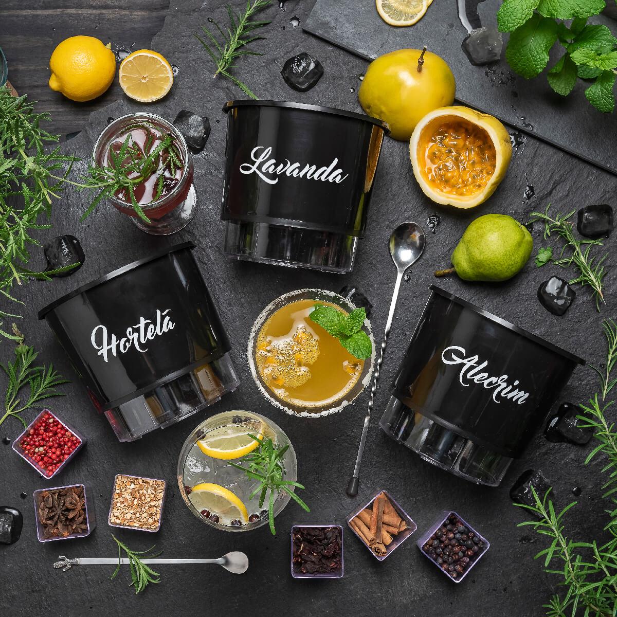 Kit Plantio Completo Gourmet Drinks  - Vasos Raiz Loja Oficial