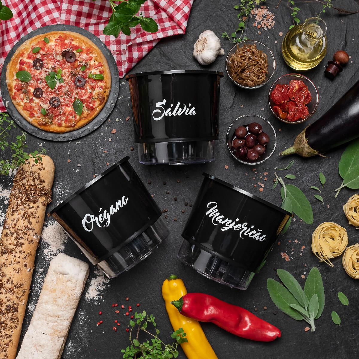 Kit Plantio Completo Gourmet Itália  - Loja Raiz