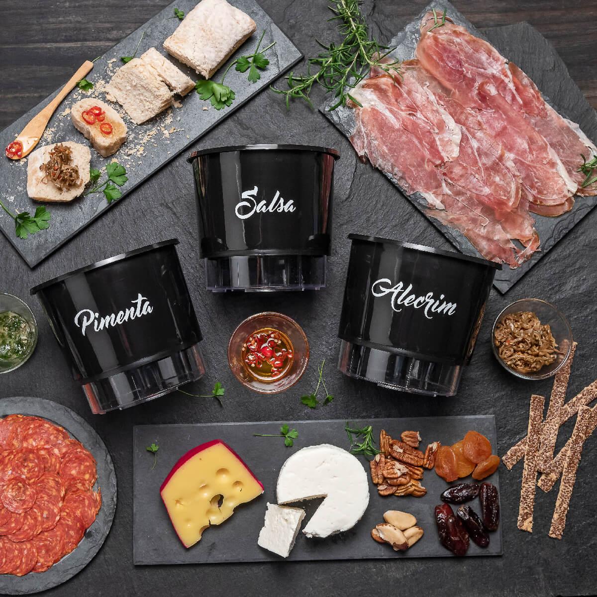 Kit Plantio Completo Gourmet Tábuas  - Vasos Raiz Loja Oficial
