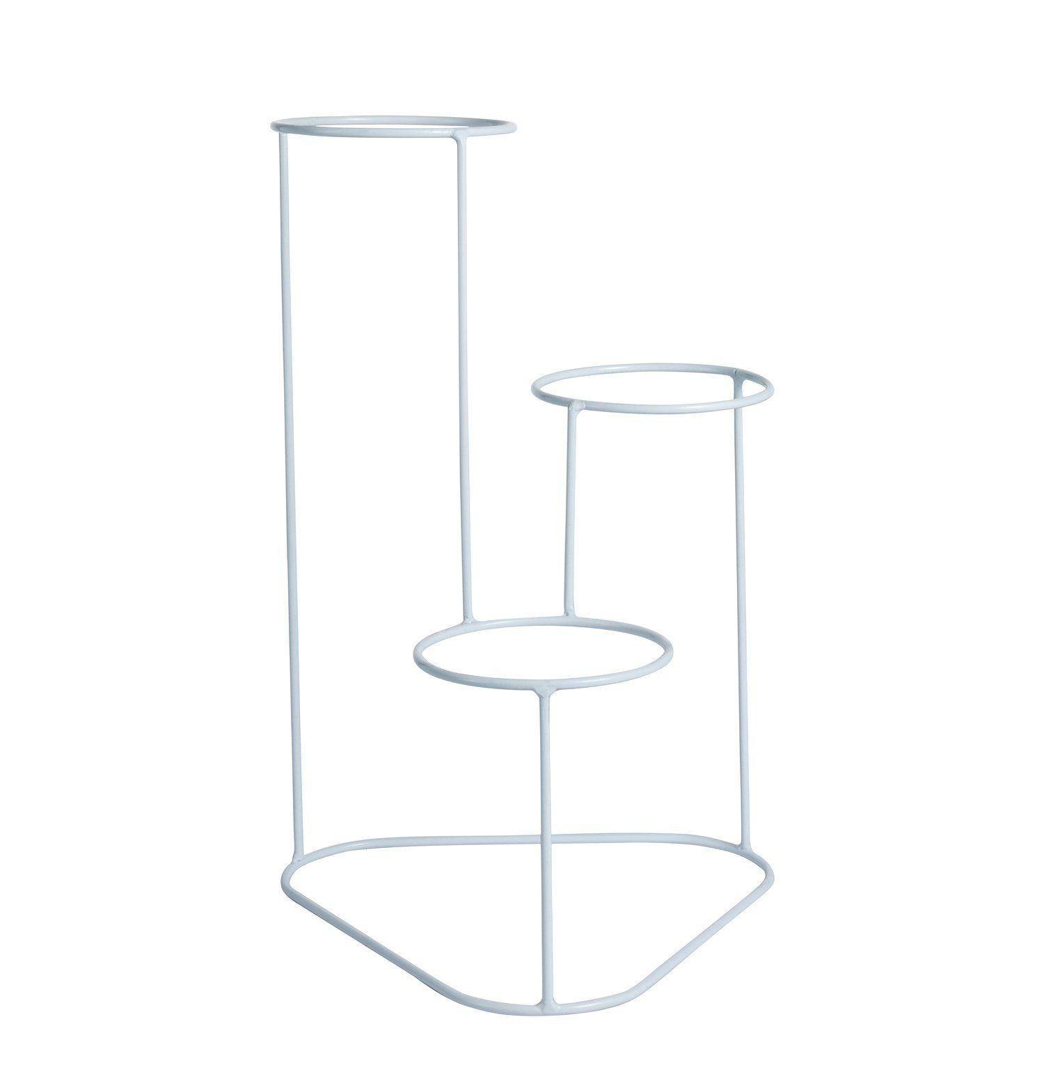 Suporte Aramado Cascata Branco 40cm para 03 Vasos Raiz Pequenos N02  - Vasos Raiz Loja Oficial