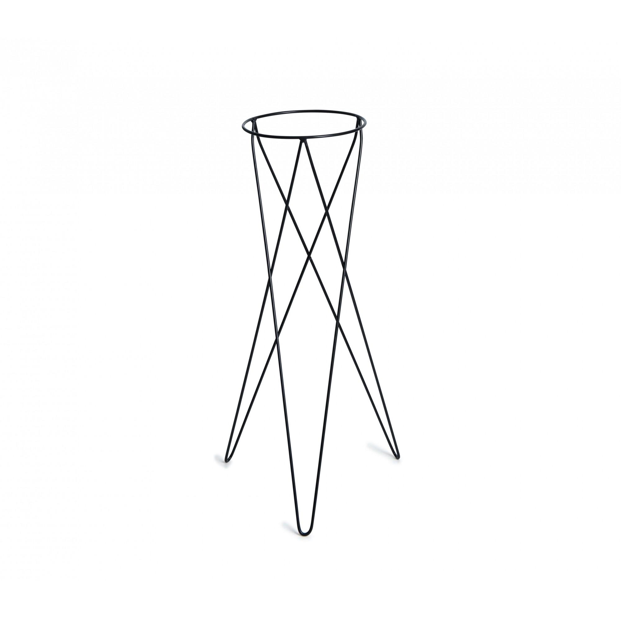 Suporte Tripé Metálico Preto 80cm para Vaso Autoirrigável Grande N04  - Loja Raiz