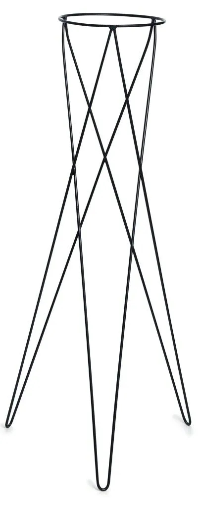 Suporte Tripé Metálico Preto 80cm para Vaso Autoirrigável Grande N04 Raiz  - Vasos Raiz Loja Oficial