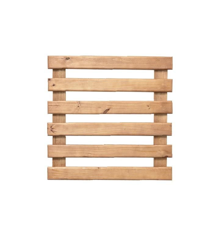 Treliça de Madeira Caramelo 60cm x 60cm para Jardim Vertical  - Vasos Raiz Loja Oficial