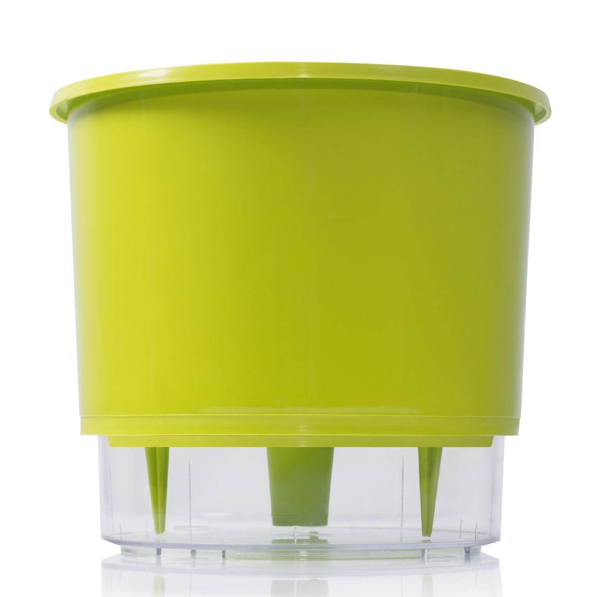 Vaso Autoirrigável Grande 21,5cm x 18cm Verde Claro