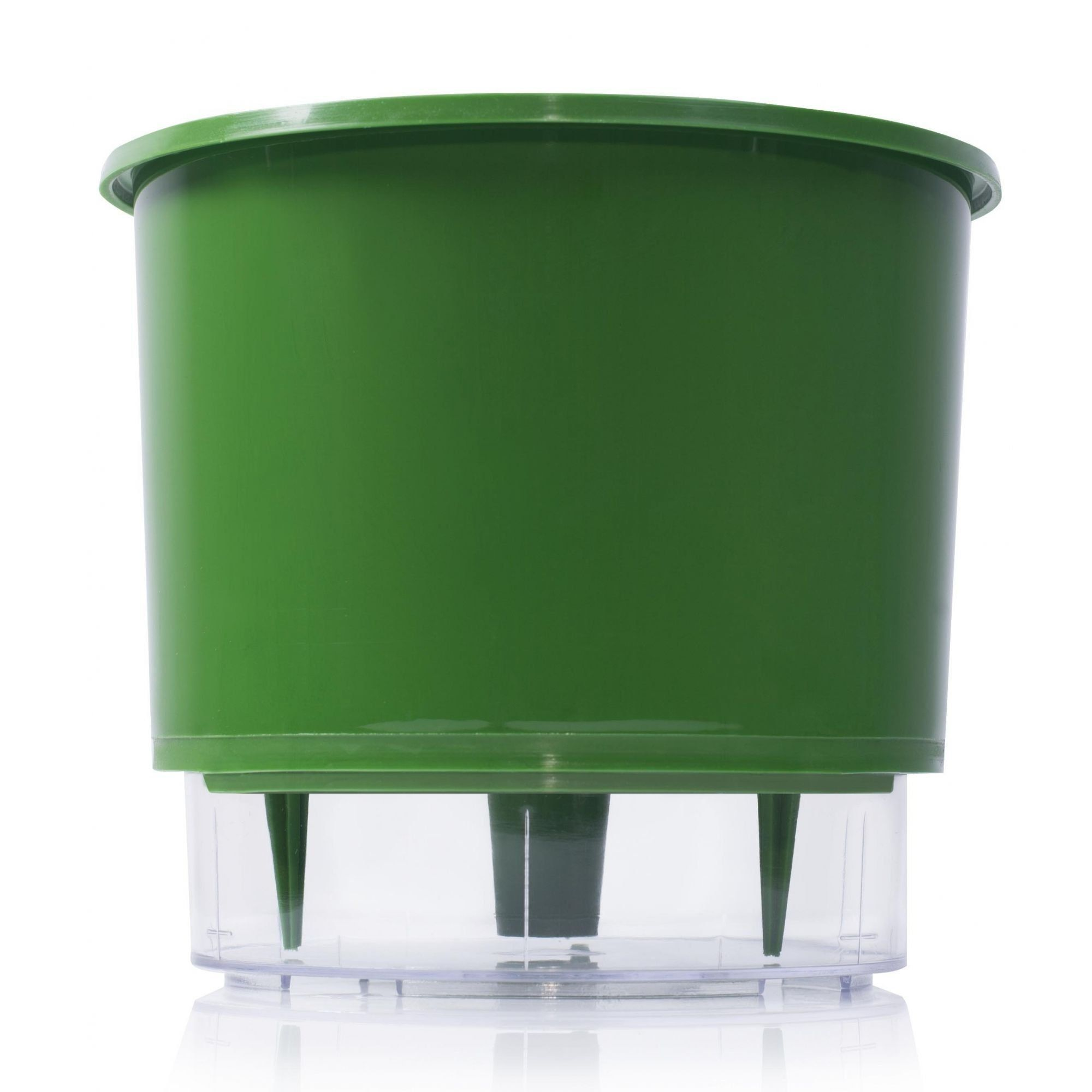 Vaso Autoirrigável Verde Escuro Grande 21,5cm x 19cm - N04  - Vasos Raiz Loja Oficial