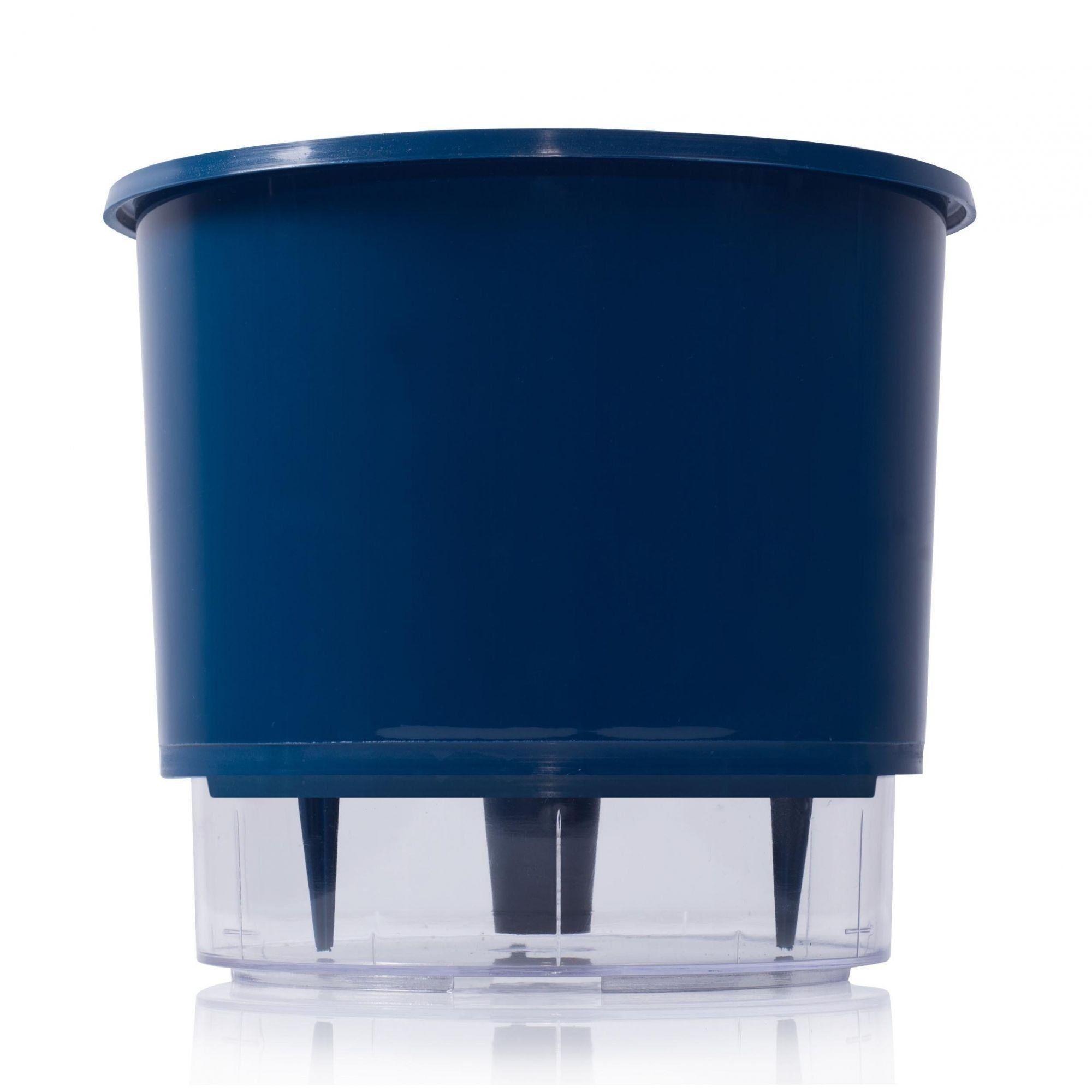 Vaso Autoirrigável Azul Escuro Médio 16cm x 14cm - N03  - Vasos Raiz Loja Oficial