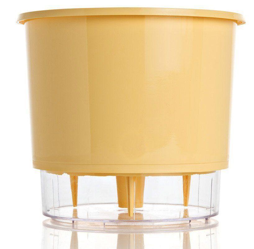 Vaso Autoirrigável Médio 16cm x 14cm Pêssego Wishes N03  - Vasos Raiz Loja Oficial