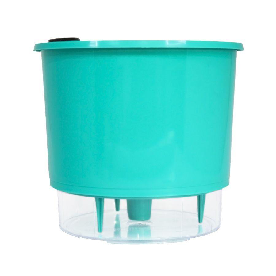 Vaso Autoirrigável Médio 16cm x 14cm Verde Raiz Wishes